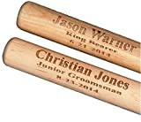Gift Ideas For Boys - Sports or Game Room Decor For Wall, Baseball Bat Keepsake For Kids or Fan, Personalized For Ring Bearer, Engraved New Baby Present For Wall