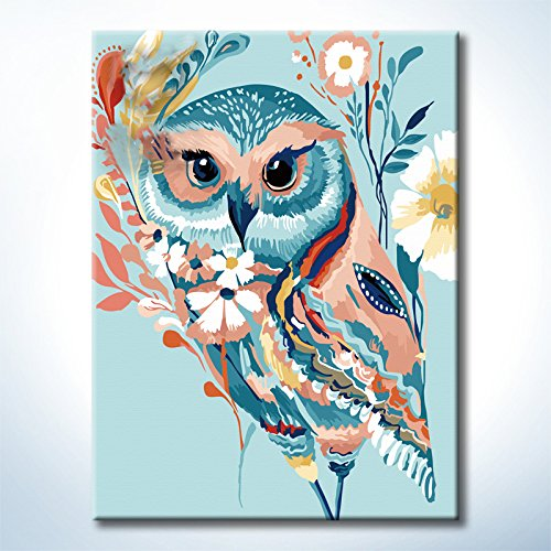 Diy Oil Paintings Paint By Numbers Kits Owl Paintworks Diy By Yourself