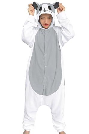 8cb9bb0c2ce5 Amazon.com  dressfan Animal Cosplay Costume Hamster Pajamas Women ...