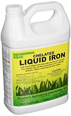 Southern Ag Chelated Liquid Iron, 128oz - 1 Gallon