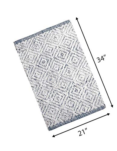 (Woven St Luxury Chenille Bath Rug Floor mat for Spa Vanity Shower Super Soft Machine Washable Bath Rugs for Bathroom/Kitchen Water Absorbent Anti-Skid Bedroom Area Rugs (21