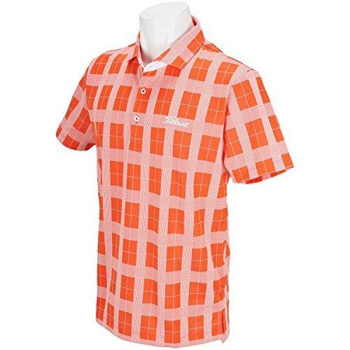 タイトリスト TITLEIST 半袖シャツ?ポロシャツ グレンチェック半袖ポロシャツ オレンジ LL
