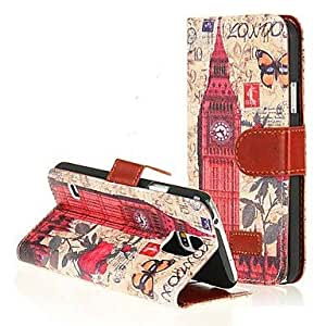JAJAY- PU Leather London Big Ben Wallet Flip Case Cover for Samsung Galaxy S5/i9600