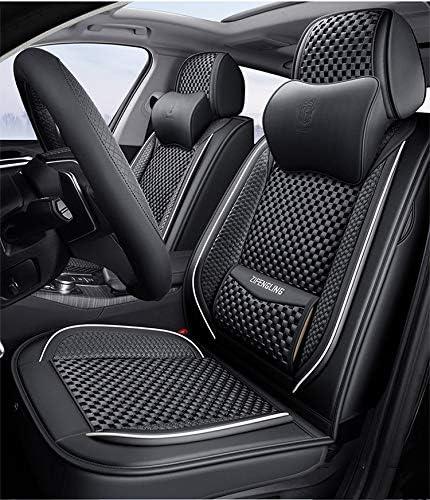 Auto Sitzbezüge Universal Vorne Und Hinten 5 Sitziges Set Pu Leder Autositzbezug Sets Vollen Satz Wasserdicht Für Volkswagen Bmw E46 E60 E90 Audi A3 A4 B8 Ford Focus Schwarz Auto