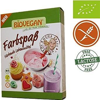 Colorante Alimentario Natural Biológico Calidad Superior 8x5g (5 Colores: Rojo - Amarillo - Naranja - Rosa - Verde) Biovegan | Colorante Alimentario ...