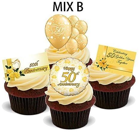 50 Goldene Hochzeit Mix B Spass Neuheit Premium Aufrechtstander