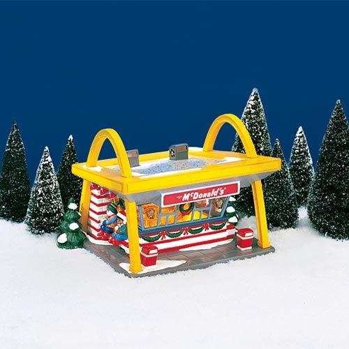 amazoncom department 56 snow village mcdonalds home kitchen - Dept 56 Christmas Village