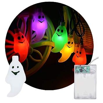 Lianqi 2M / 6.6ft 20LED Ghost String Wire Lights AA con Pilas Decoración para Navidad, Halloween, Fiesta, Barbacoa, Boda - Colorido