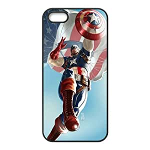 TOSOUL Diy Captain America Selling Hard Back Case for Iphone 5 5g 5s