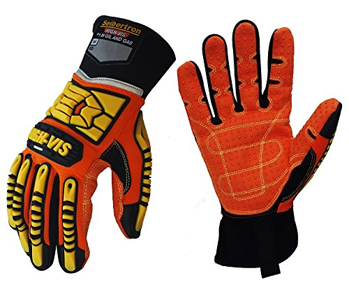 Seibertron High-Vis SDX2 Resistant Reducing Anti-Impact Mechanics Heavy Duty Safety Rescue Gloves CE EN388 4232 M by Seibertron