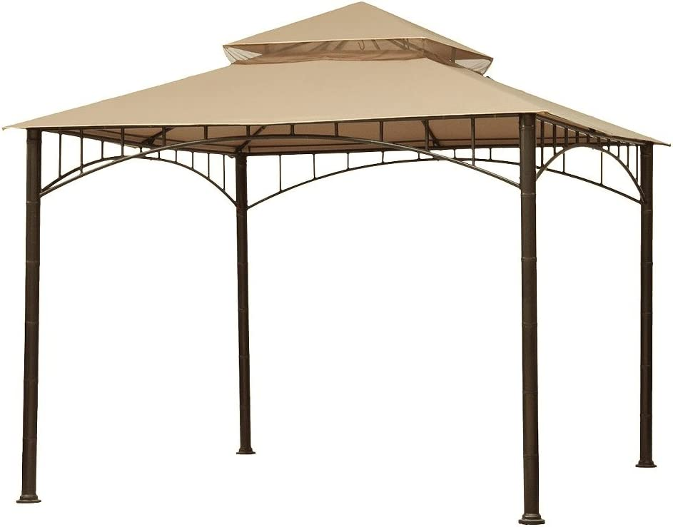 Garden Winds Replacement Canopy Top Cover for Madaga Gazebo - Riplock 350 - Beige