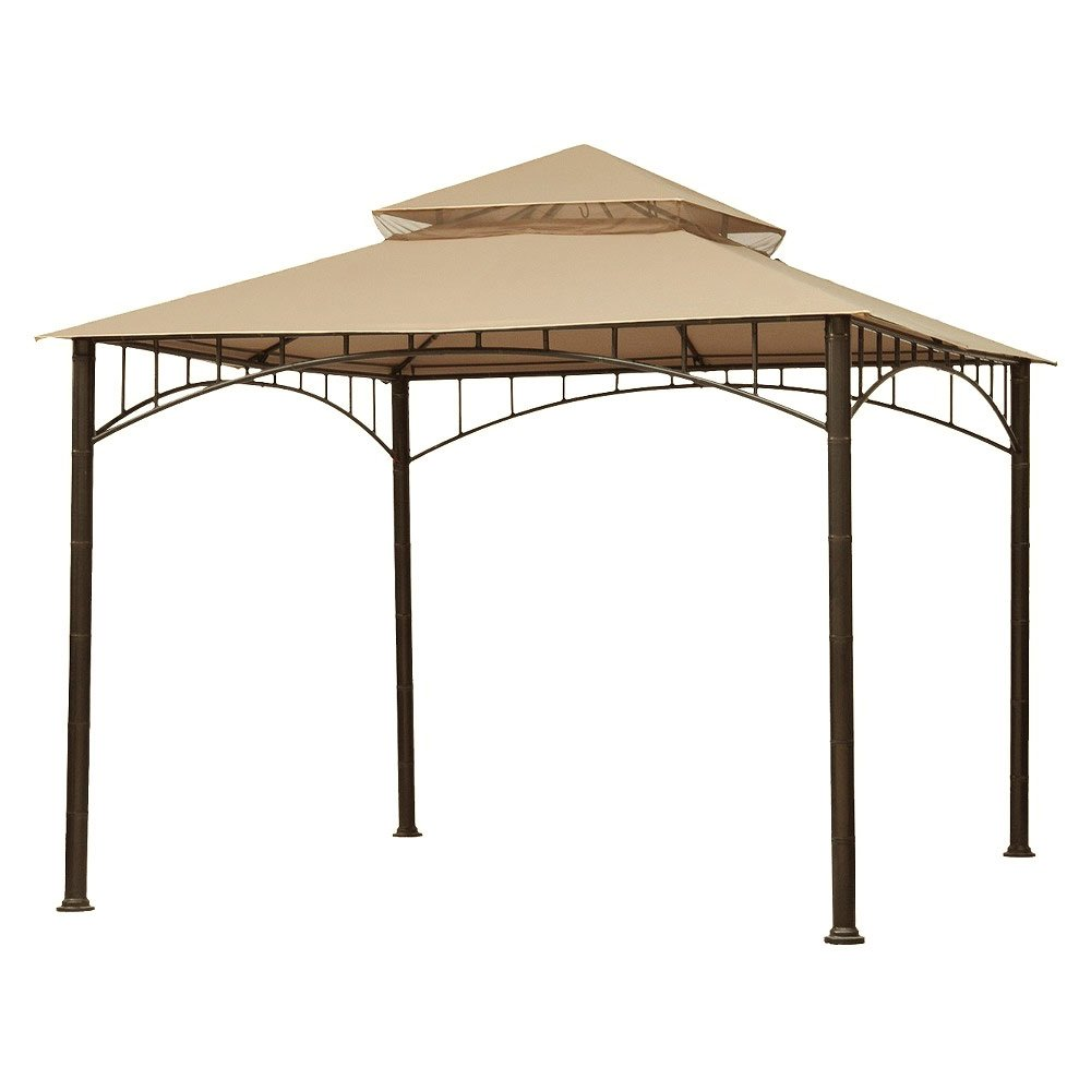 Garden Winds Replacement Canopy for Target Madaga Gazebo, Beige
