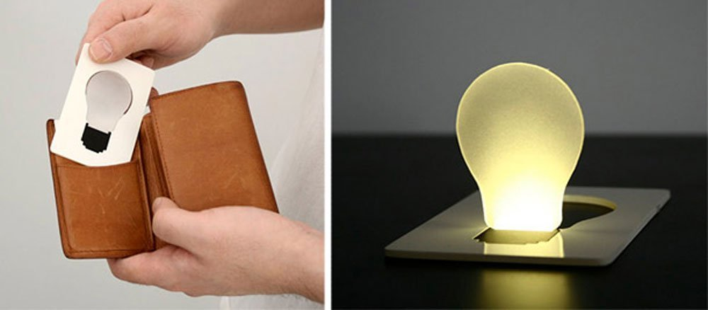 nicebuty port/átil bolsillo tarjeta LED luz l/ámpara poner en monedero cartera