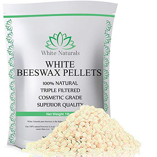 One Day Sale! White Beeswax Pellets 1 lb (16 oz), Pure, Natural, Cosmetic Grade, Top Quality Bees Wax Pastilles, Triple Filtered, Great For DIY Lip Balms, Lotions, Candles By White Naturals (Furniture Wholesale At Prices)
