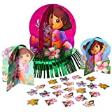 "Colorful Dora's Flower Adventure© Birthday Party Table Decorating Kit (23 Pack), Purple, 12.5""."