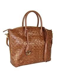 Handbag Piero Guidi Embossed Amber