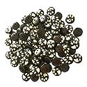 Fityle ボタン 2穴 木製 丸い 15mm バックル 工芸 衣類 装飾 約100ピースの商品画像