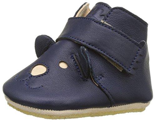 Easy Peasy Baby Jungen Kiny Teddy Hausschuhe Blau (Tintenblau)