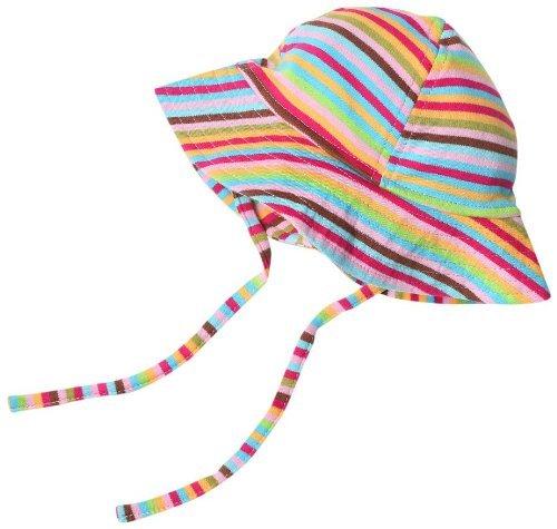 Amazon.com  Zutano Baby Girls  Primary Stripe Sun Hat 8bb8fd187a3