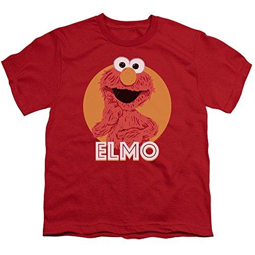 Sesame Street Elmo Scribble Youth T-Shirt S (Playskool Sesame Street Elmo Junction Train Set)