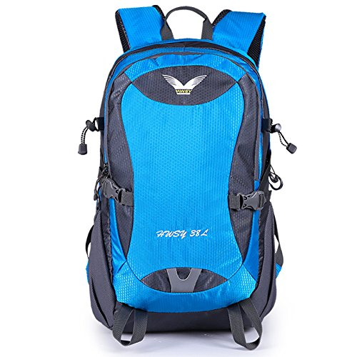 Große Kapazität Klettern Taschen Rucksack wasserdicht Bewegung Rucksäcke Outdoor Paket kann Logoaufdruck angepasste, blau