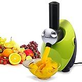 Homemade Frozen Fruit Yogurt Dessert Maker, Ice Cream Machine, Sweet Treat Smoothie Sorbet Maker Blender, Green