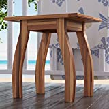Wooden Patio Side Table in Teak Finish
