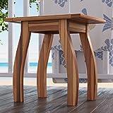 Wooden Patio Side Table in Teak Finish