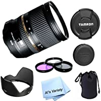 Tamron SP 24-70mm Di VC USD Canon Mount AFA007C-700 (Model A007E) PREMIUM LENS BUNDLE for Canon Digital SLR Cameras - International Version (No Warranty)