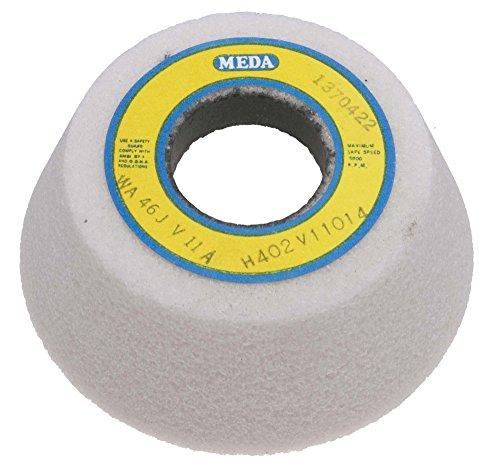 "Meda 4/3"", 1-1/4 hole, 80K Flaring Cup White Aluminum Oxide Grinding Wheel"