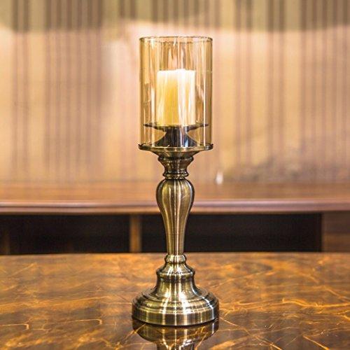 DIDIDD Candelabro de estilo europeo, lámpara de mesa, decoración del hogar de metal, restaurante, sala de estar,...