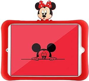 HikerClubTabletCaseforiPadMini 1/2 / 3MinnieMickey Cute3D CartooniPad CasewithFoldStandUltraSoftSlimSilicaShockproofCoverforGirlsBoysKidsChildren (Minnie)