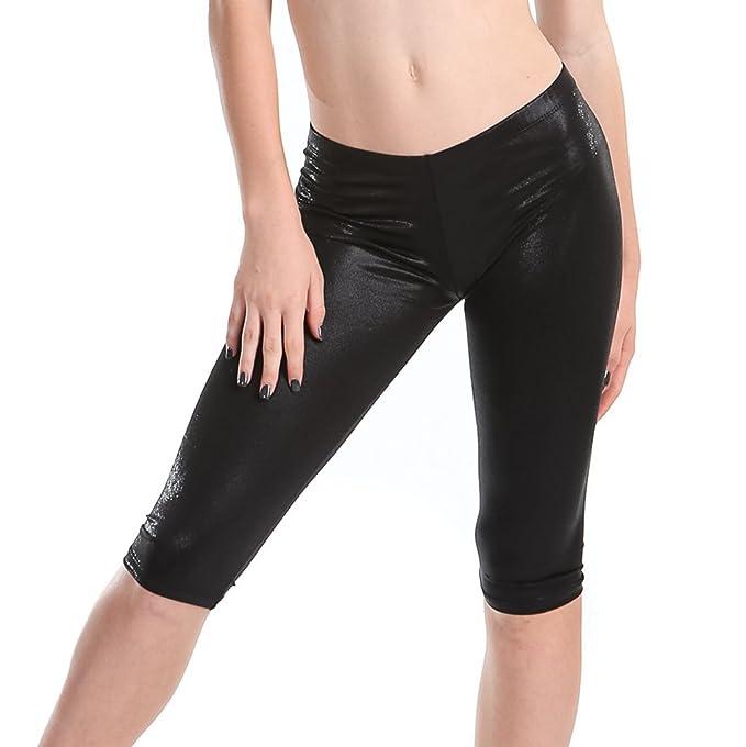 c103c2343a5dd7 Amazon.com: Gia Mia Girl's Metallic Matrix Dance Exercise Yoga ...