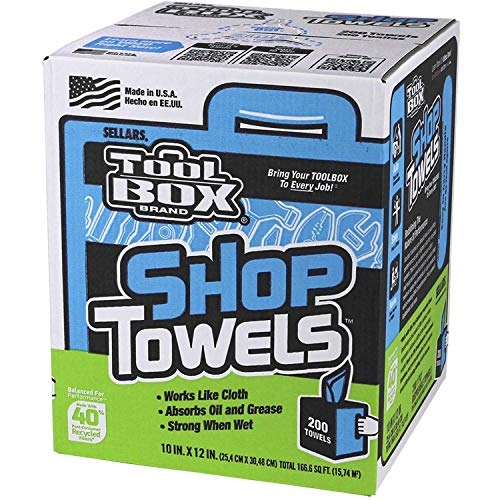 Sellars 55202 ToolBox Shop Towels Box, 10
