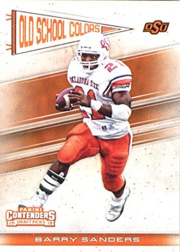 2018 Panini Contenders Draft Picks Old School Colors #3 Barry Sanders Oklahoma State Cowboys NCAA Collegiate Football Ca
