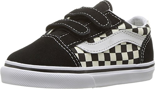 Vans Toddler Old Skool V (Primary Check) Black/White VN0A38JNP0S Toddler Size 10