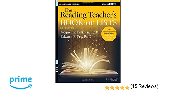 Amazon.com: The Reading Teacher's Book of Lists (J-B Ed: Book of ...