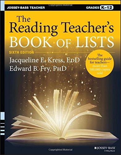 The Reading Teacher's Book of Lists (J-B Ed: Book of Lists) (Teachers Edition Book)