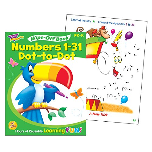 Trend Enterprises Numbers 1-31 Dot-to-Dot Wipe-Off Book ()