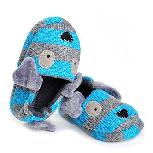 Pictures of Beeliss Toddler Boys Slippers Cartoon Puppy Crochet 3