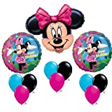 Minnie Mouse Happy Birthday Balloon Party Set Kit Mylar Latex Disney Bouquet