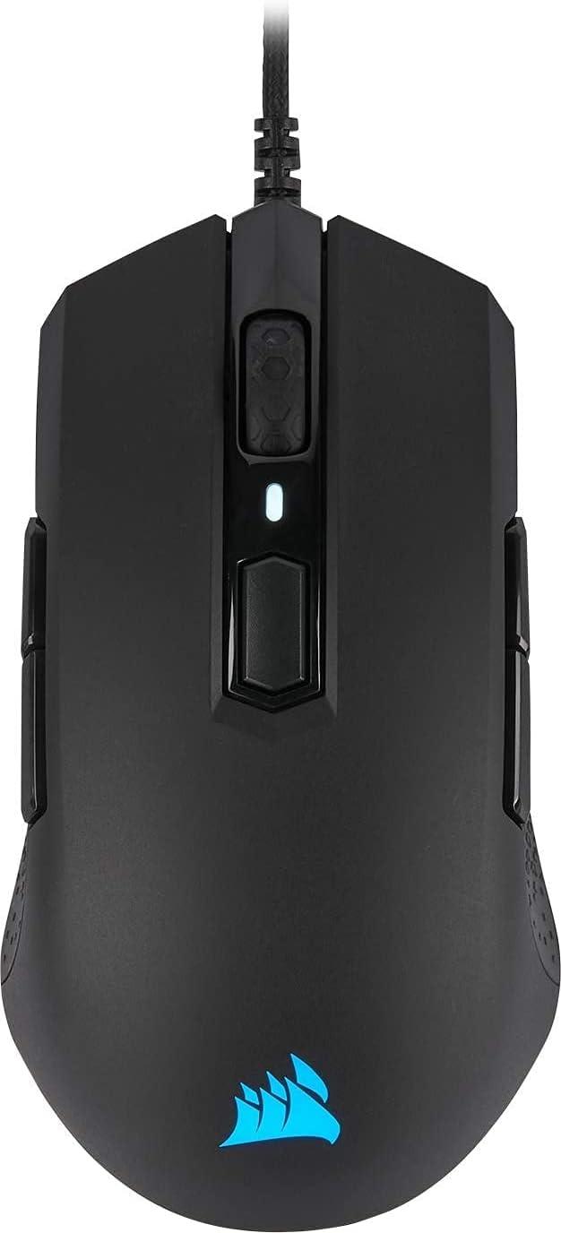 Corsair M55 RGB PRO, Ratón Óptico, Tamaño Único, Negro