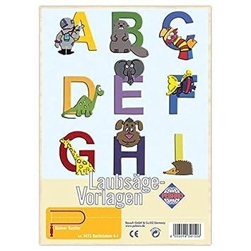 Matches21 Buchstaben A I Verziert Holz Laubsägevorlage Din A4