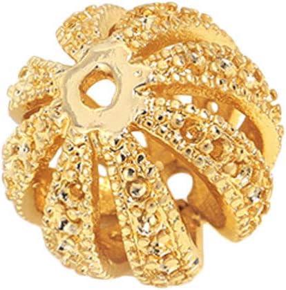 Holibanna Colgantes en Espiral de Jaulas de Cuentas de Primavera Colgante de Bola de Filigrana Hueca Colgante para Cuentas de Piedra de Lava Diy Accesorios de Fabricación de Joyas de Piedras Preciosas