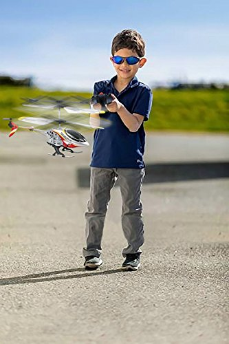 Dazzling Toys Remote Controlled Helicopter – For Indoor or Outdoor – 3.5 Channels for Accurate Flying – Alloy Design –Great Gift for Kids Color Red