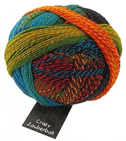 Lana para tejer calcetines locos Zauberball 1564 amarillo/rojo/verde/azul + de