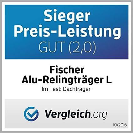 Fischer Alu-Relingträger Top L 1,20m Grundträger Träger Aluminium abschließbar