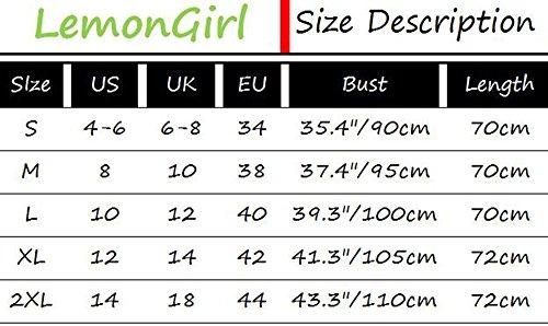 LemonGirl Mujer Blusa Tops Camisetas DeepGrey