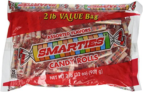 Smarties Candy Rolls, Bulk, 2 Pound (Smarties Rolls Candy)