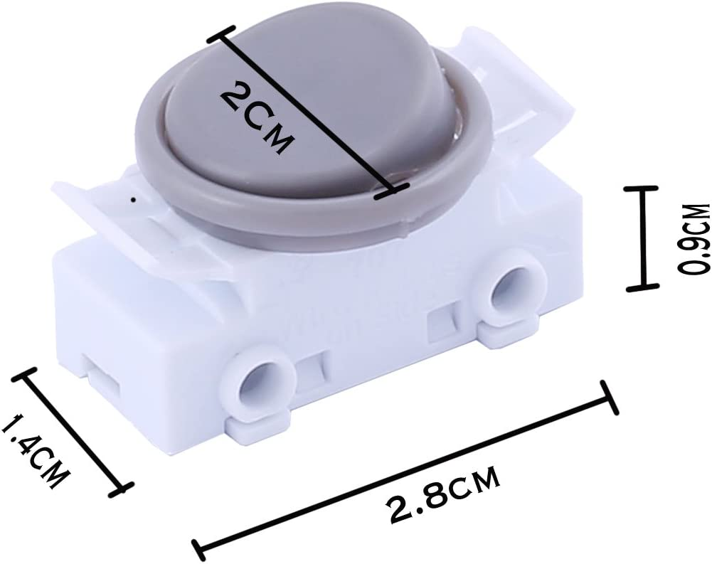 Grey Sucre Auxiliary/® 2A 250VAC On-Off Round Rocker Button Switches for Car Boat Dashboard UK Seller